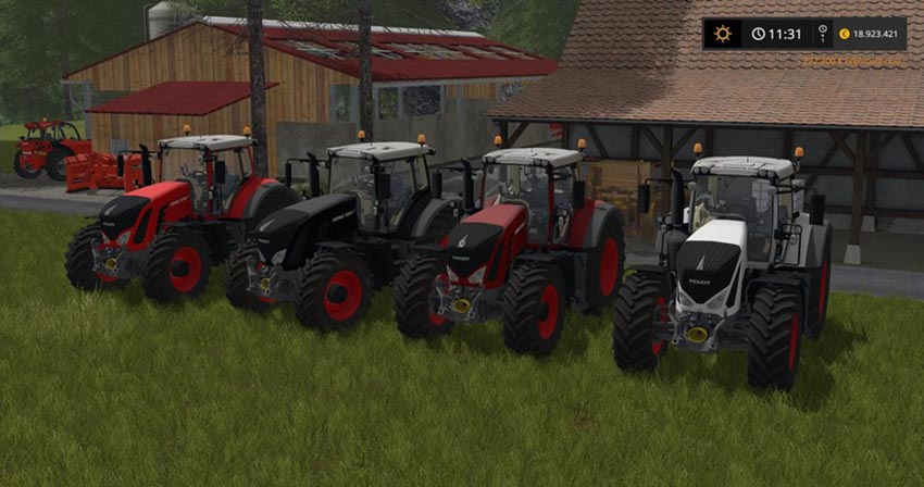 Fendt 900 Series with rim and Body Color Choise V 1.0