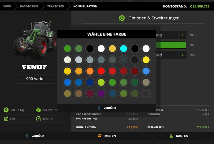 Fendt 900 Vario color choice v 1.2