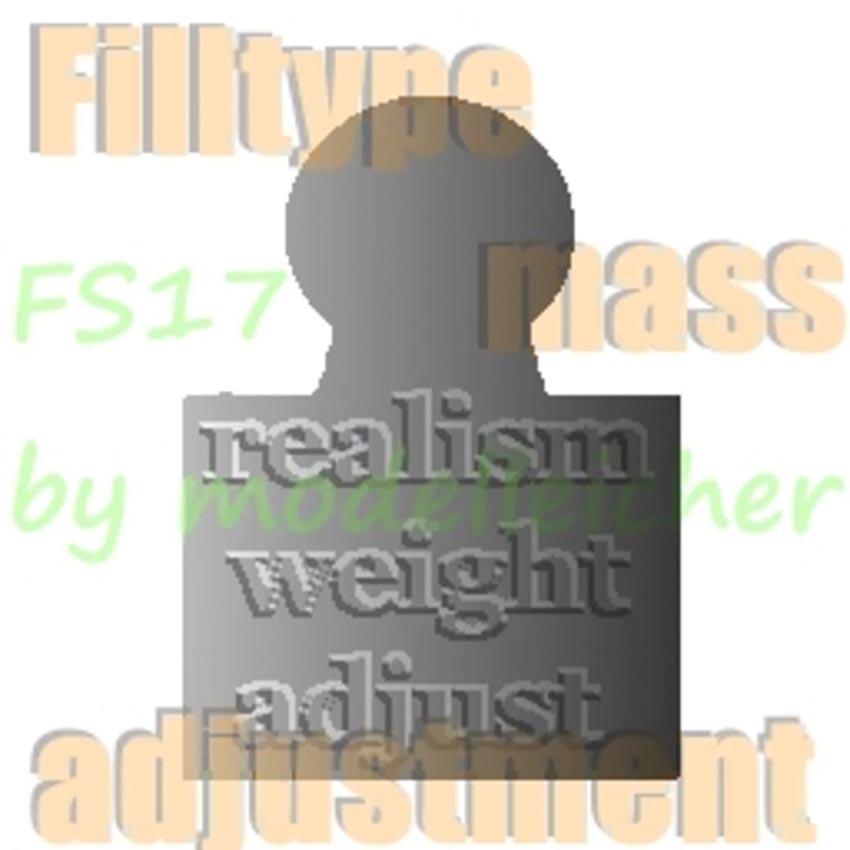 Fill Type Mass Adjustment for FS17 realistic loading masses v 4.0