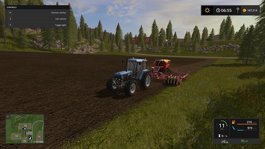 Hired worker consumes fuel seed and fertilizer v 1.0