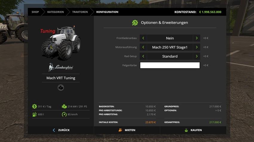 Lamborgini Mach VRT Tuning V 1.0