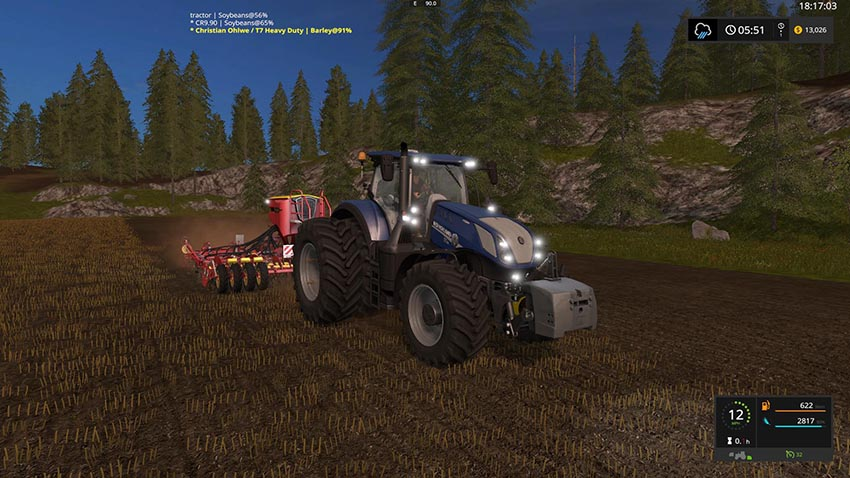 New Holland T7 LWB Tier 4B Heavy Duty