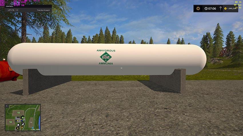 Placeable anhydrous liquid fertilizer tank v 1.0