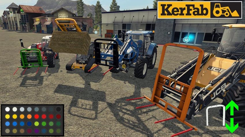 Spike Kerfab With BaleAttacher and All Loader V 1.0