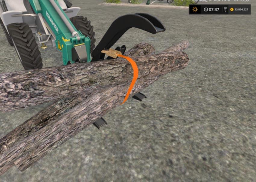 Stoll log grapple with strap V 1.1