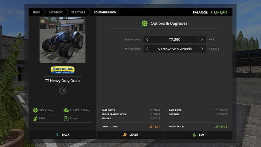 New Holland T7 Dual Wheels v 1.0