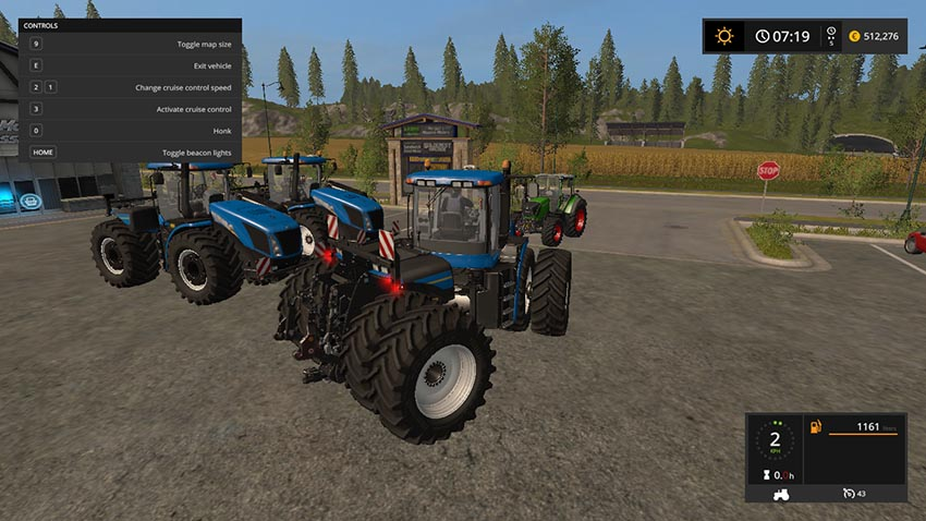 New holland T9 with drilling tires v 1.0
