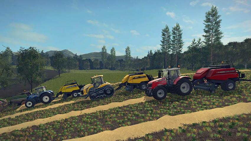 Pack 4 BigBalers 1 axle v 1.0