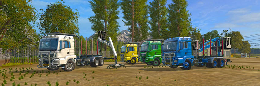 MAN TGS 33.480 FORESTRY TRUCK & TRAILER V 0.9.1