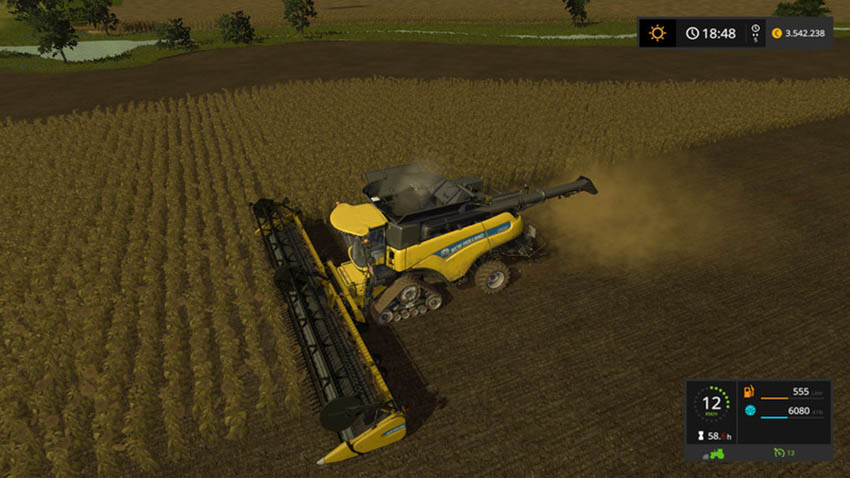 New Holland 45ft with sunflowers V 1.0