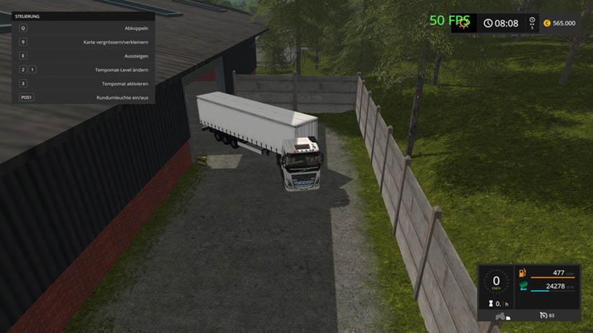 Tilt semitrailer KRONE V 1.0