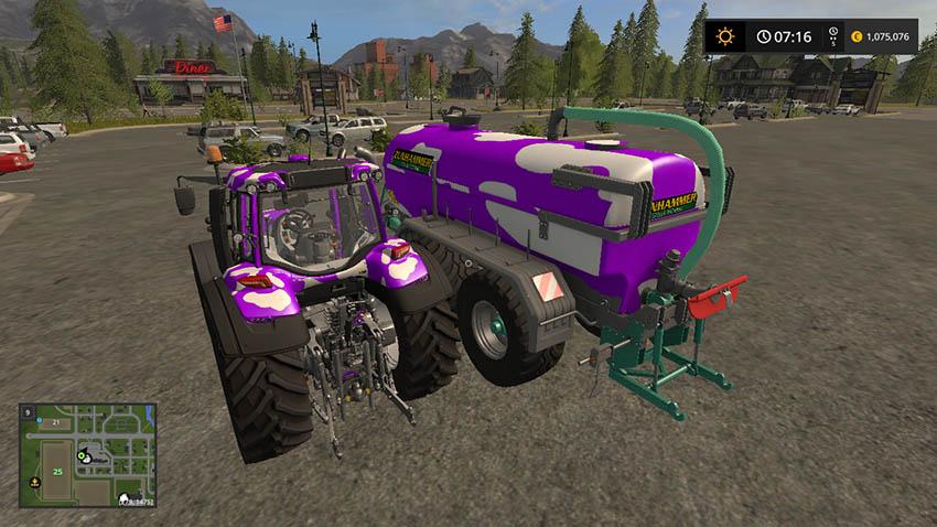 Valtra T Series Cow GT Milka Edition v 1.0