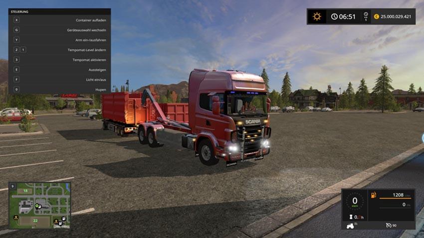 SCANIA V8 HKL with rail Trailer V 1.0.0.1