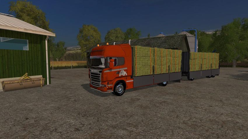 Scania R730 with tarpaulin in Fehrenkoetter Skin V 1.0