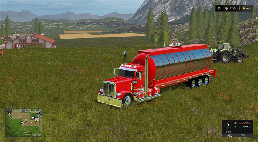Water tank for Peterbilt Daycab V 1.1