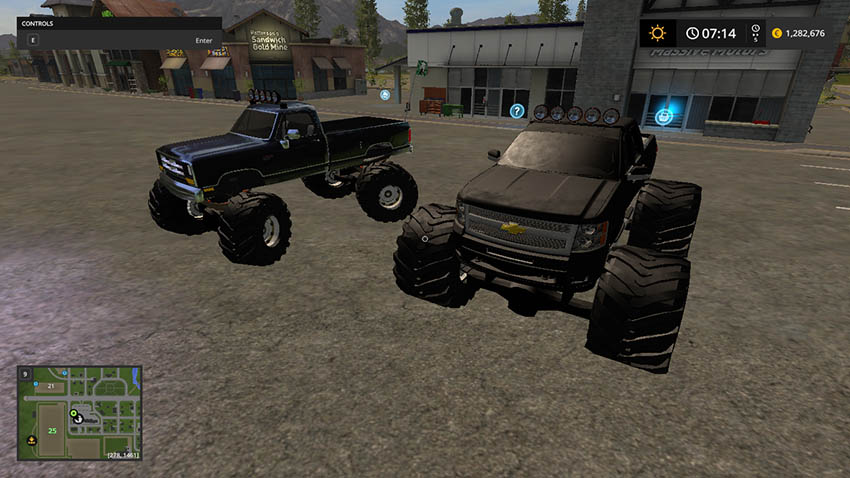 DODGE CUMMINS AND CHEVY MONSTER TRUCK V 1.0