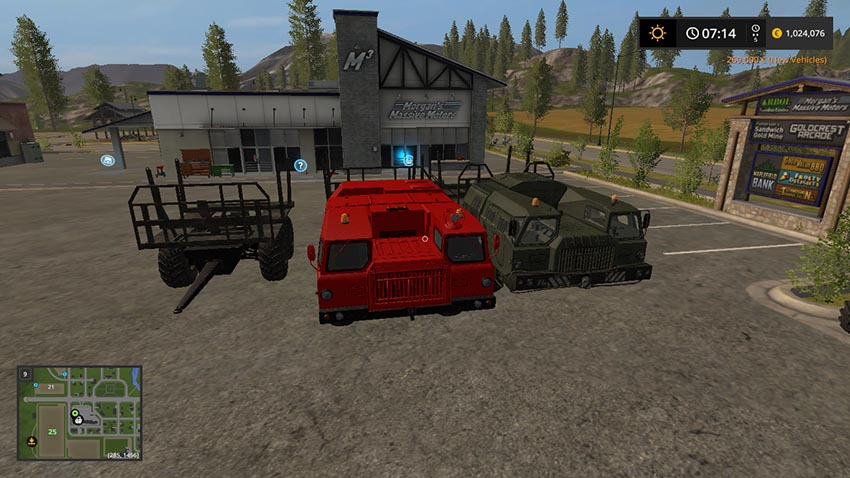 Heavy timber trucks MAZ V 1.0