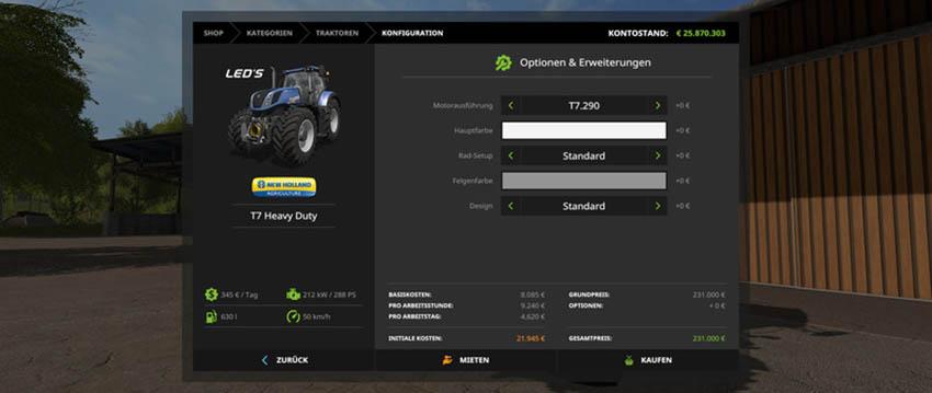 New Holland T7 HD V 1.1