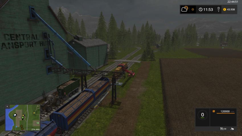 Wood chips for the train V 1.0