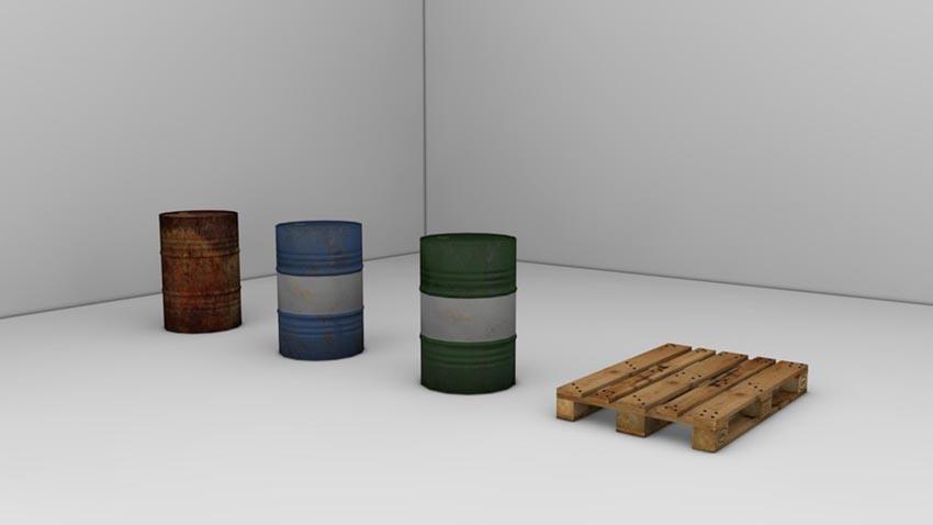 Barrels with Europalette V E2