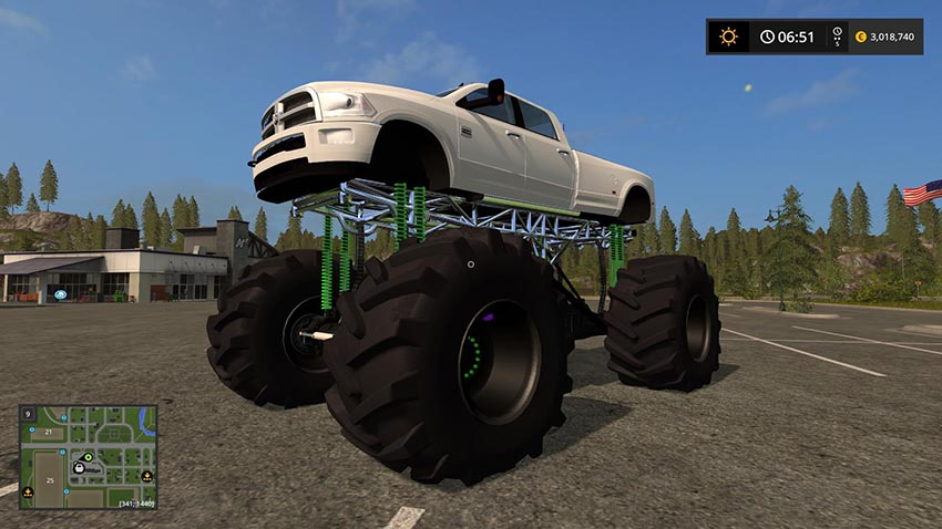 Dodge Mud Truck Lifted v 1.0