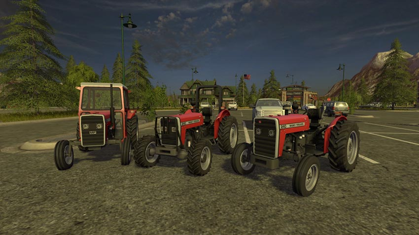 Massey Ferguson 240 with Frontloader v 1.0