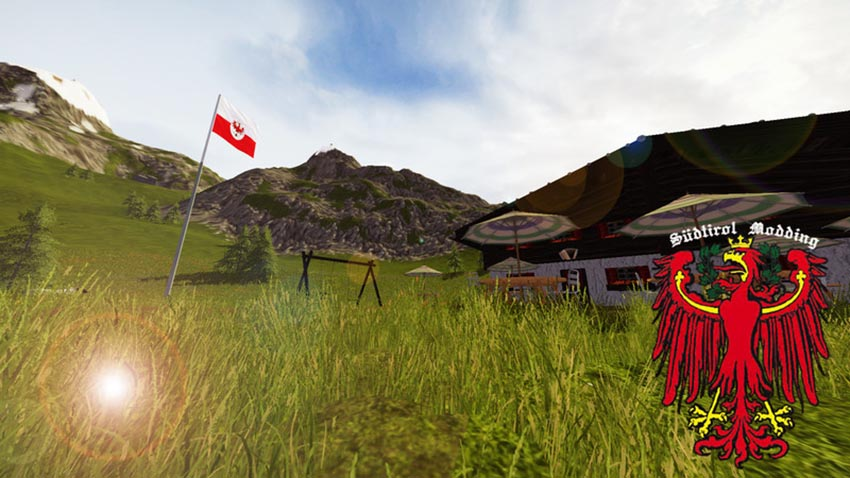 Tyrolean flag with switchable anthem V 1.0
