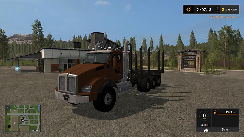 Logging Truck Fixed Bunk v 1.0