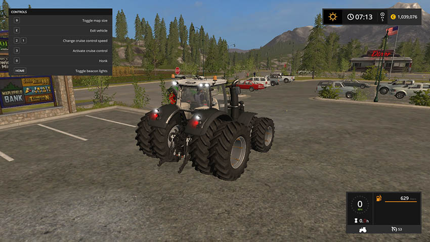 Massey Ferguson 8737 Black Edition v 1.0