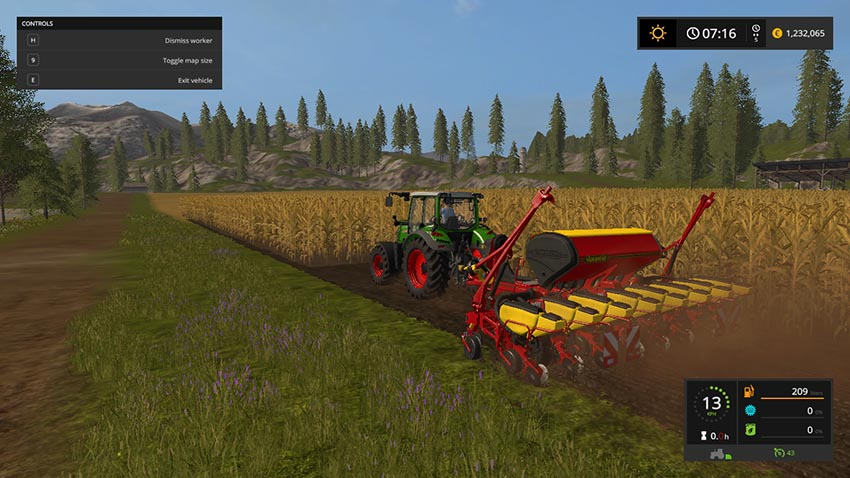 Vaederstad pace F8 with direct drilling v 1.0