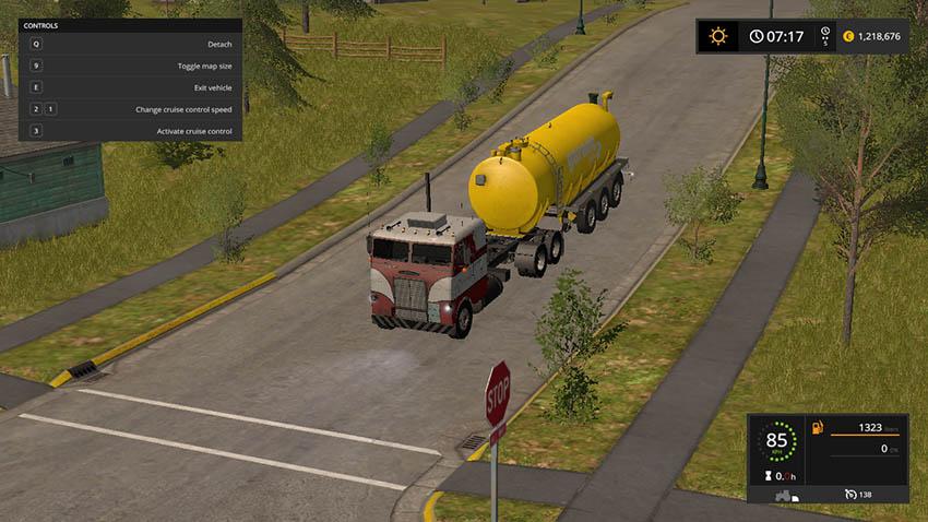 White Freightliner cabover v 1.0