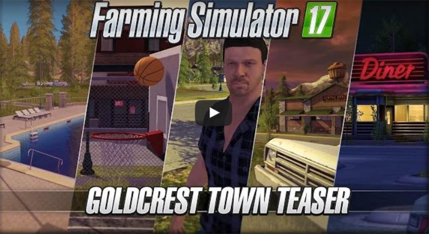 Farming Simulator 17 Goldcrest Town Teaser