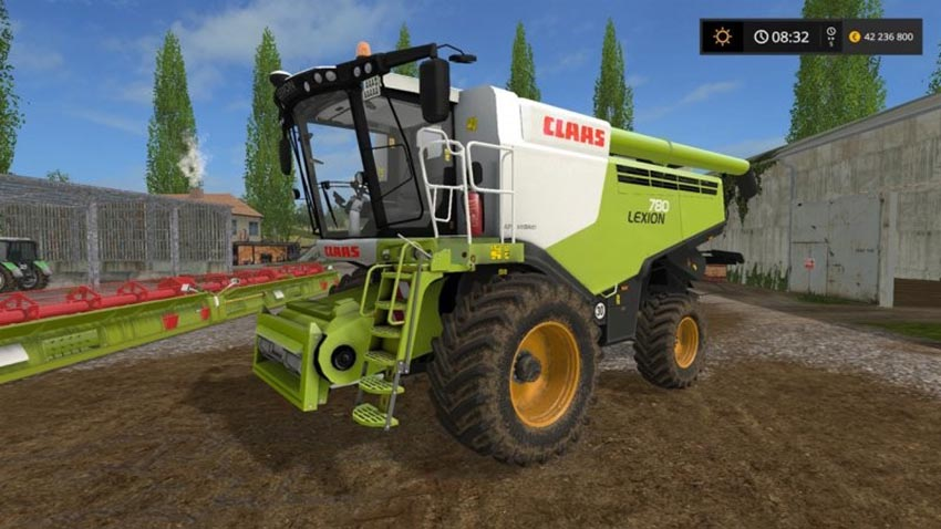 Claas Lexion 780 with headers V 1.0