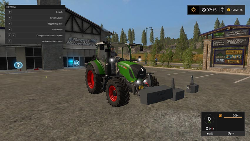 Fendt Vario Weights Pack v 1.0