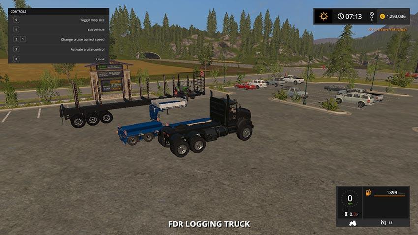 Log Trailer Low Bed Log Truck