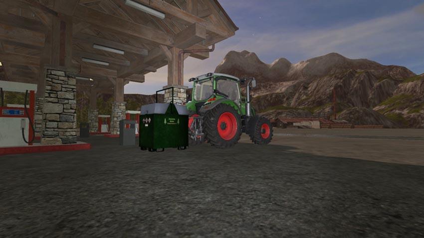 Mobile 800L diesel tank for the forest V 1.0