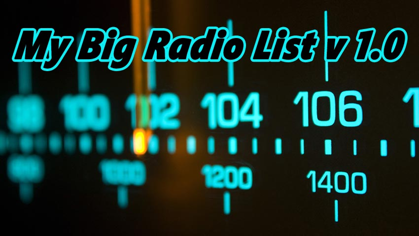 My Big Radio List V 1.0