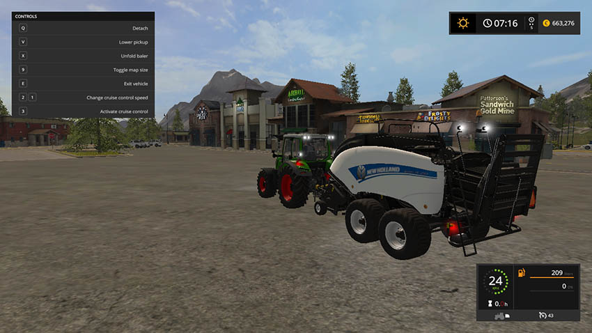 New Holland BB 1290 with color selection V 1.0