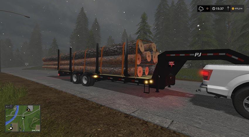 PJ Trailer 25ft Plus Log Trailer v 1.0