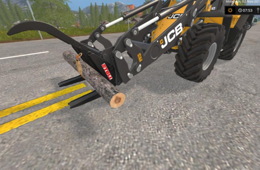 Stoll log grapple with strap V 1.2