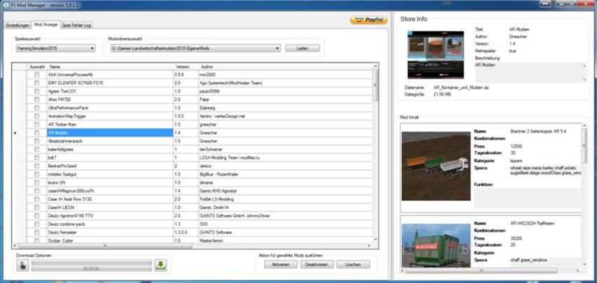 FS Mod Manager 5 V 5.0.1.4