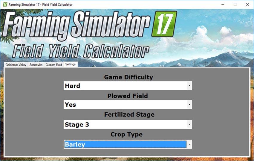 Field Yield Calculator V 1.0