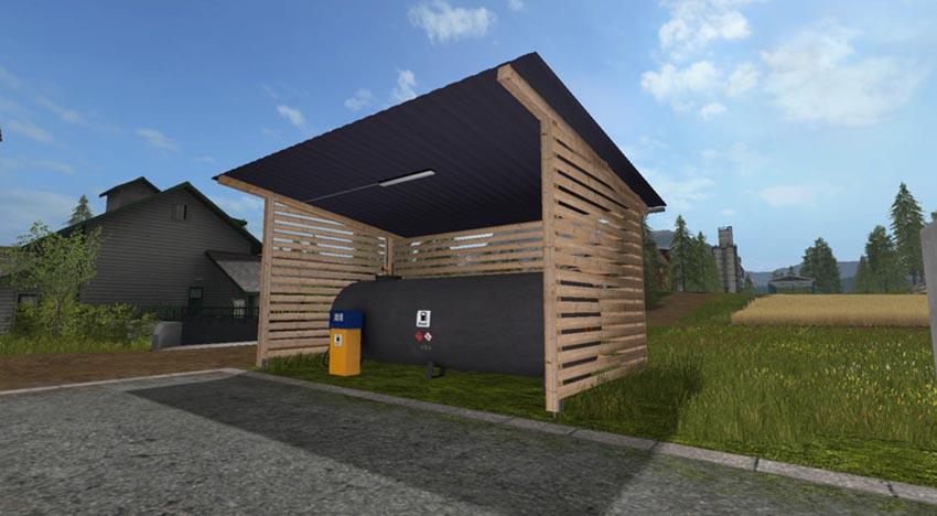 Gas station with shelter and night light V 1.0