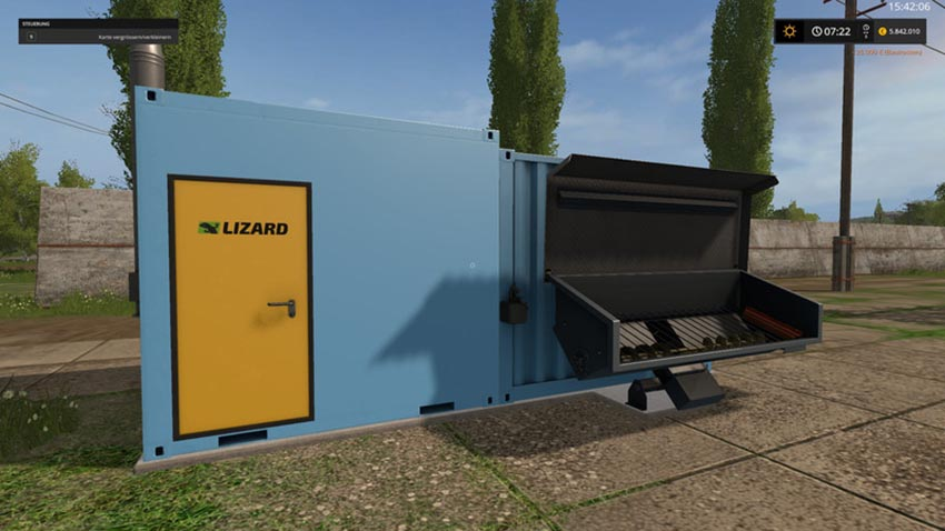 Heating plant for wood chips and silage V 1.3.0.1