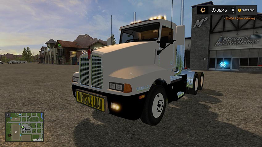 Kenworth T600 Oversize Load and LED lights v 1.0