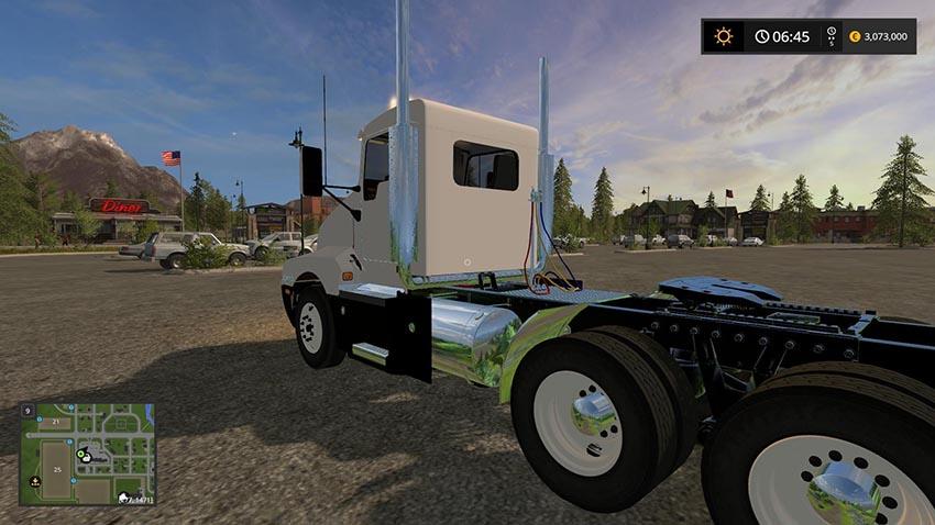 Kenworth T600 Oversize Load and LED lights v 1.0