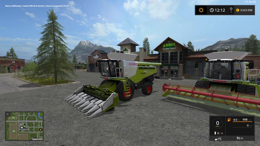 Lexion 780 TT standard and wide tires V 1.0