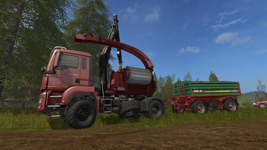 MAN TGS 18.480 with Jenz HEM583 Woodcrusher V 1.0