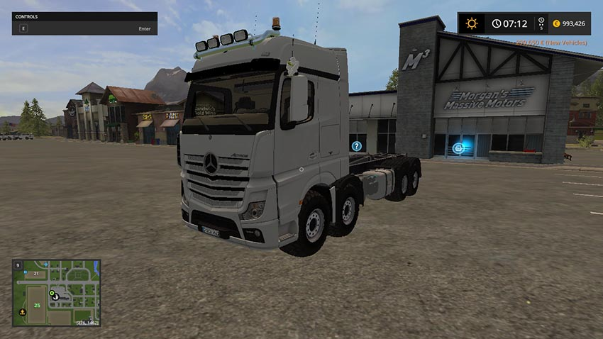 Mercedes Actros MP4 IT Runner 8x8 V 1.0