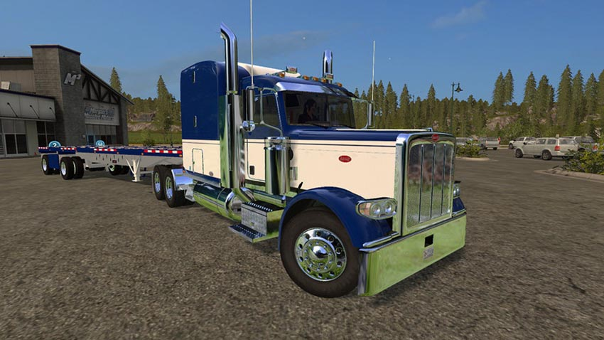 Peterbilt 388 and Manic Flatbed trailer V 1.0
